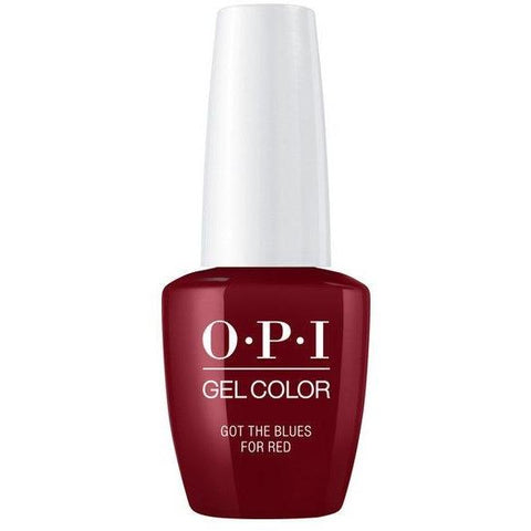 OPI GELCOLOR, GOT THE BLUES FOR RED W52
