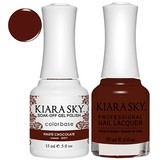Kiara Sky Gel + Nail Polish - HAUTE CHOCOLATE