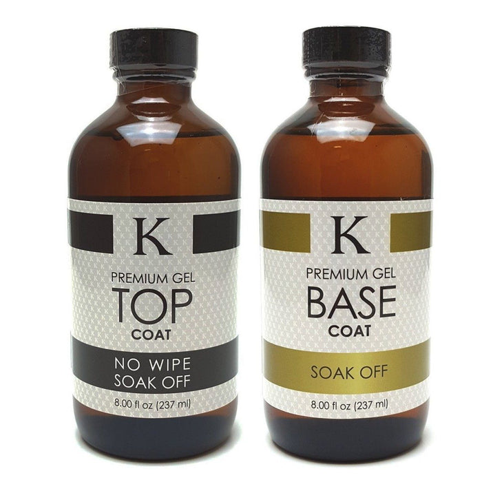 K Premium Gel TOP & BASE Coats (Set of 2)
