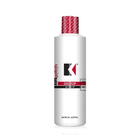 Kupa GelFinity Top Coat No Wipe Soak Off Gel Refill 8oz