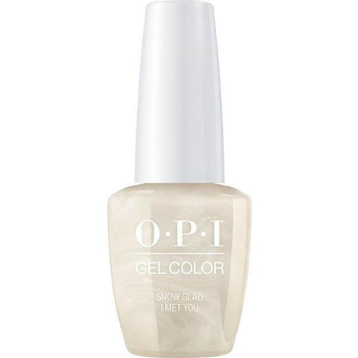 OPI Gelcolor Snow Glad I Met You, 0.5 oz