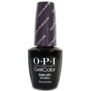 OPI GelColor - Suzi & the Arctic Fox 0.5 oz, Black Bottle