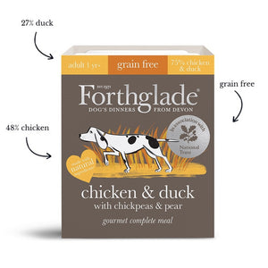 Forthglade Gourmet Chicken & Duck with Chickpeas & Pear Wet Dog Food (395g)