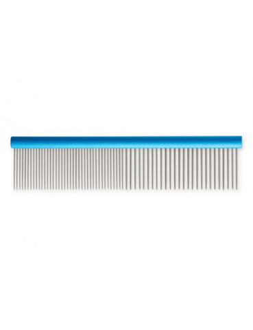 "Ancol Aluminium/Stainless Steel 7"" Comb: Medium/Coarse"