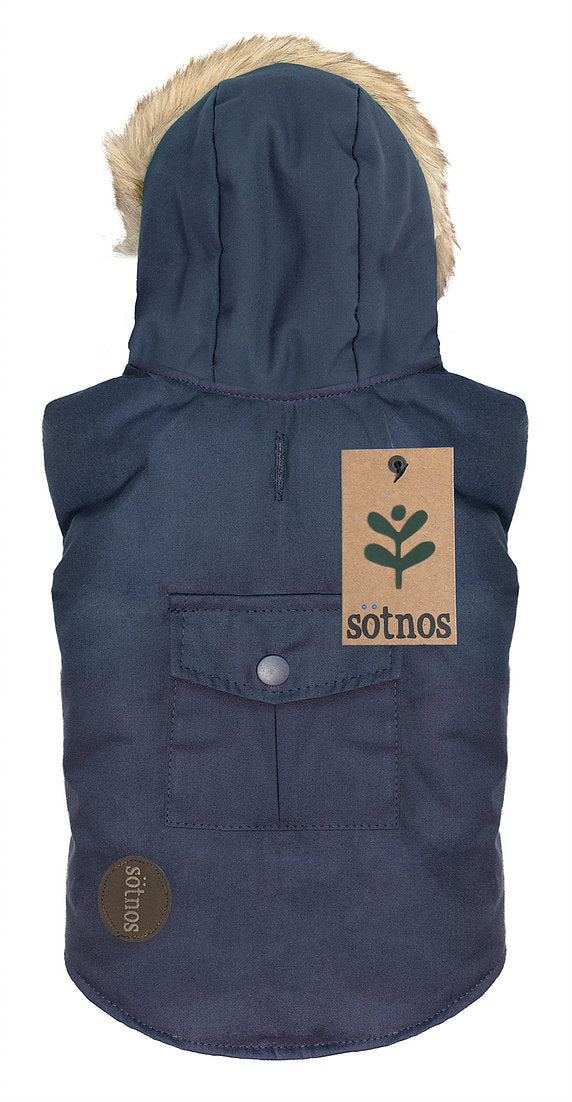 Sotnos Fur Trim Navy Parka