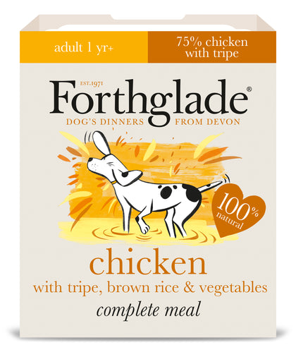 Forthglade Complete Meal Chicken, Tripe, Brown Rice & Vegetables