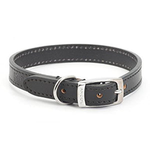 Ancol Heritage Leather Collar Black