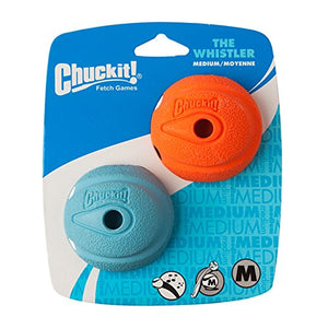 Chuckit The Whistler Ball 2 Pack Medium