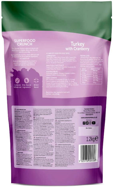 Natures Menu Country Hunter Superfood Crunch Turkey with Cranberry