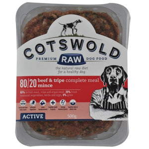 Cotswold Raw - Beef and Tripe Mince - 80/20 ACTIVE