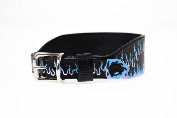 Inugami London Blue Flame Hound Collar