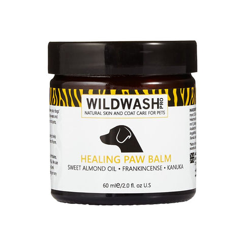 WildWash PRO Healing Paw Balm 60ml - Sweet Almond Oil, Frankinsense and Kanuka