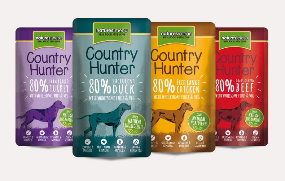 Natures Menu Country Hunter Dog Pouches Super Food Selection
