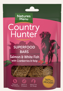 Natures Menu Country Hunter Superfood Bars Salmon & White Fish with Cranberries & Kelp