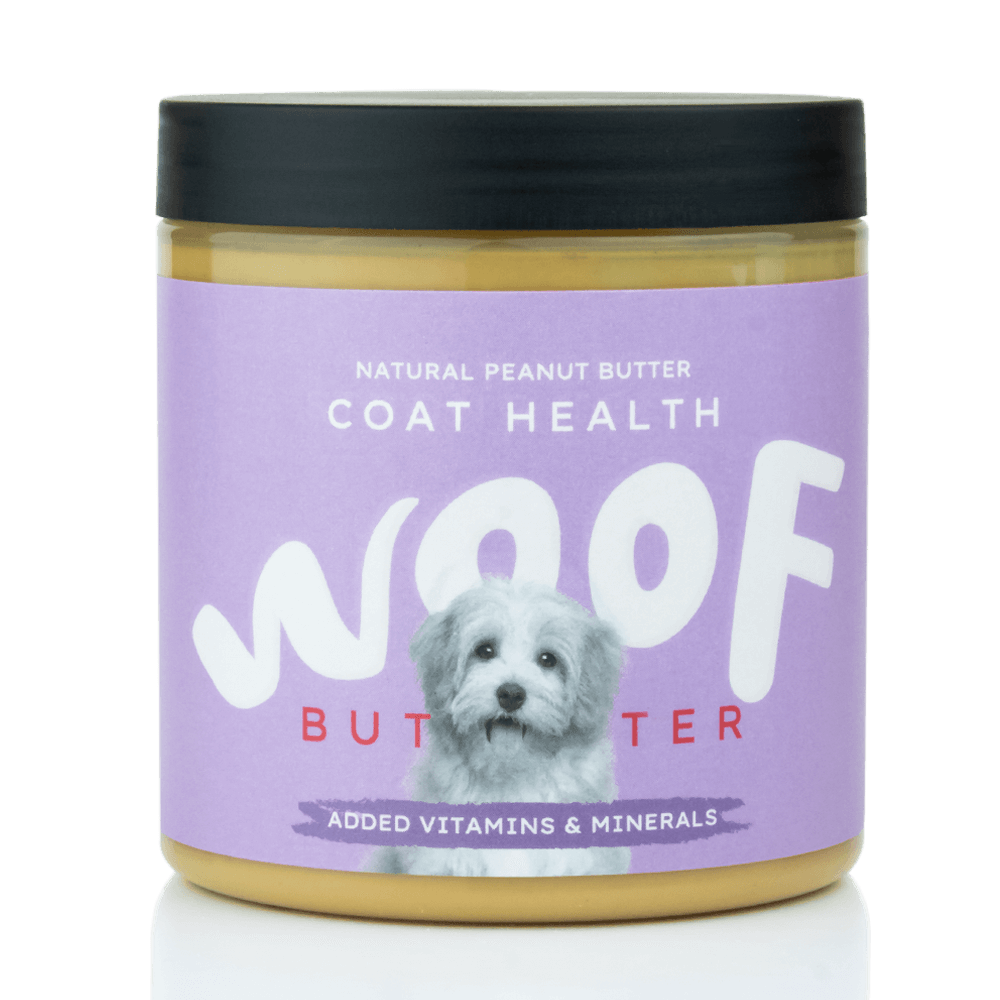Woof Butter Coat Health: Natural Peanut Butter for Dogs 250g