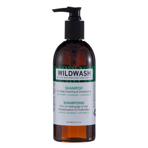 WildWash PRO Shampoo for Deep Cleaning and Deodorising 300ml - Peppermint, Rosemary and Lemongrass