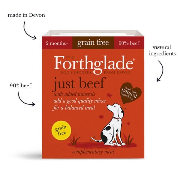 forthglade just beef natural grain free wet dog food