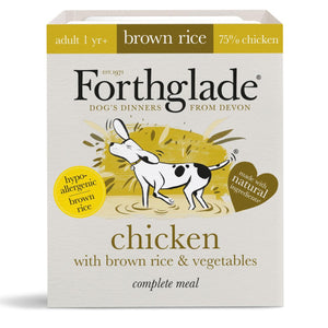 Forthglade complete meal with brown rice, chicken & vegetables natural wet dog food (395g)