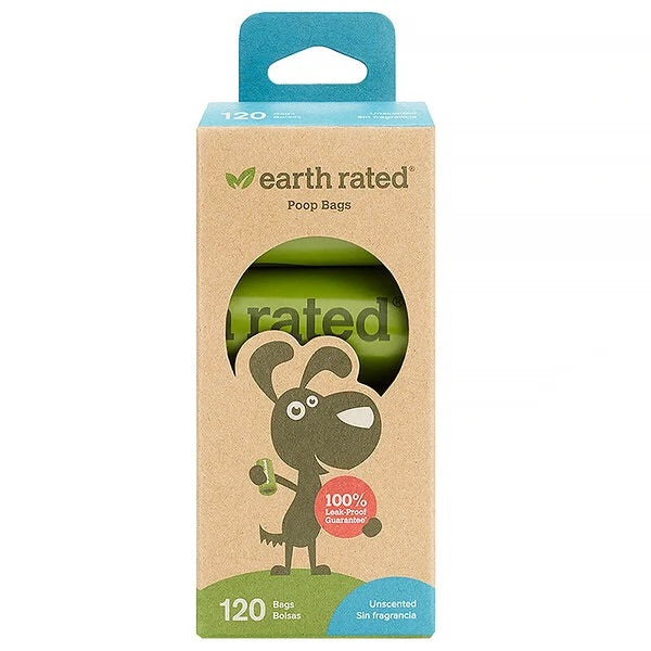 Earth Rated Eco-Friendly Poo bags | unscented | rolls