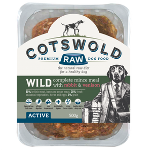 Cotswold Raw - WILD RANGE MINCE (WITH RABBIT & VENISON  - 80/20 ACTIVE