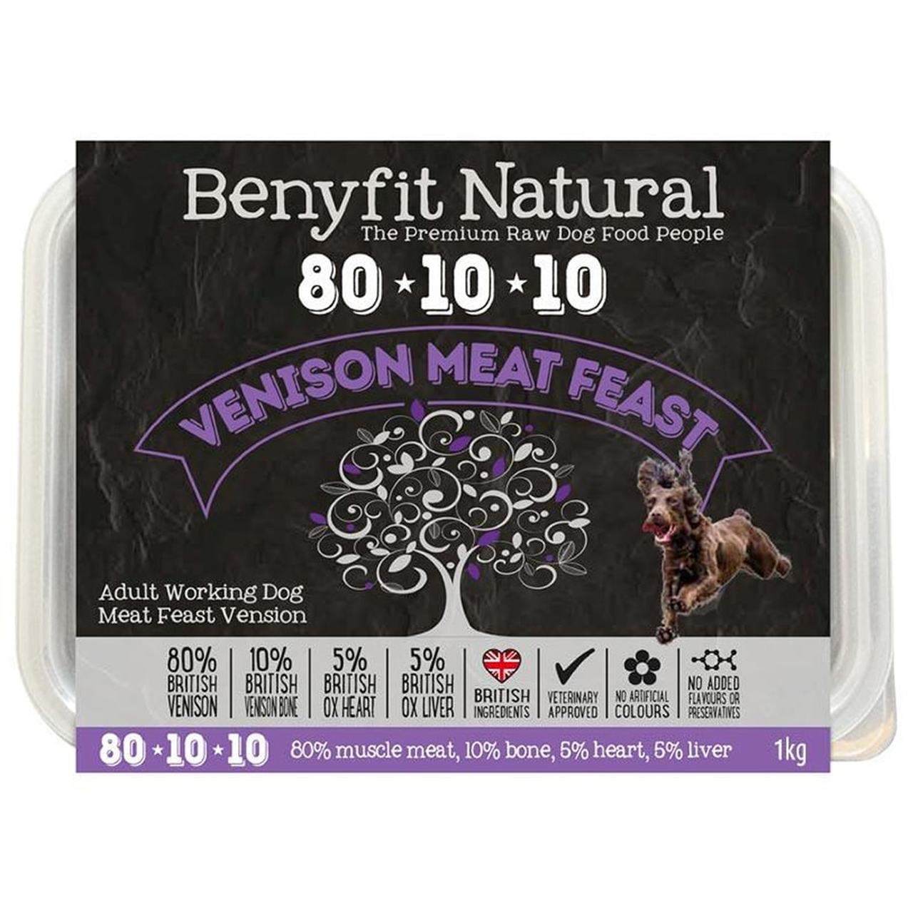 Benyfit Natural 80*10*10 Venison Meat Feast Adult Raw Working Dog Food