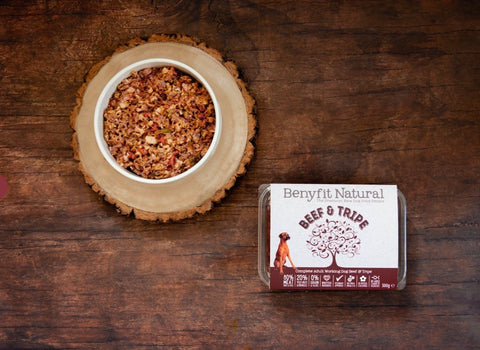 Benyfit Natural Beef & Tripe Complete Adult Raw Working Dog Food