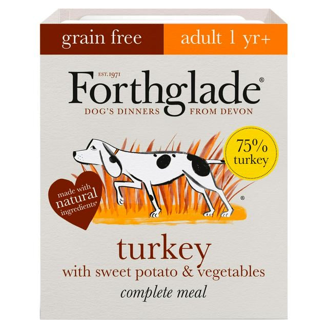 Forthglade complete meal with turkey with sweet potato & vegetables natural wet dog food (395g)