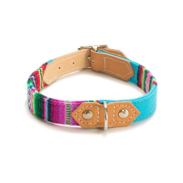 Hiro & Wolf Inca Blue Dog Collar