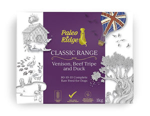 Paleo Ridge Classic Venison, Beef Tripe and Duck (1kg)
