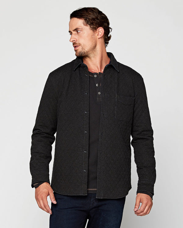Trip Quilted Knit Shirt Jacket