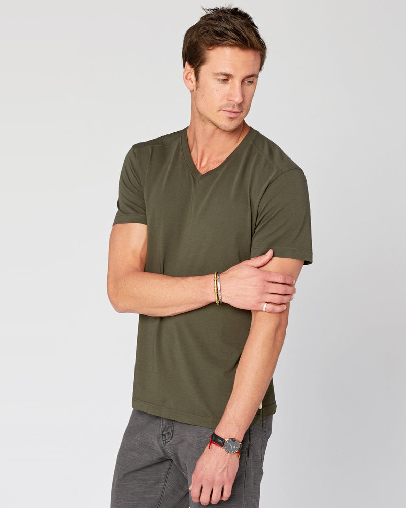 SAMPLE SALE Agave Supima V-Neck Tee
