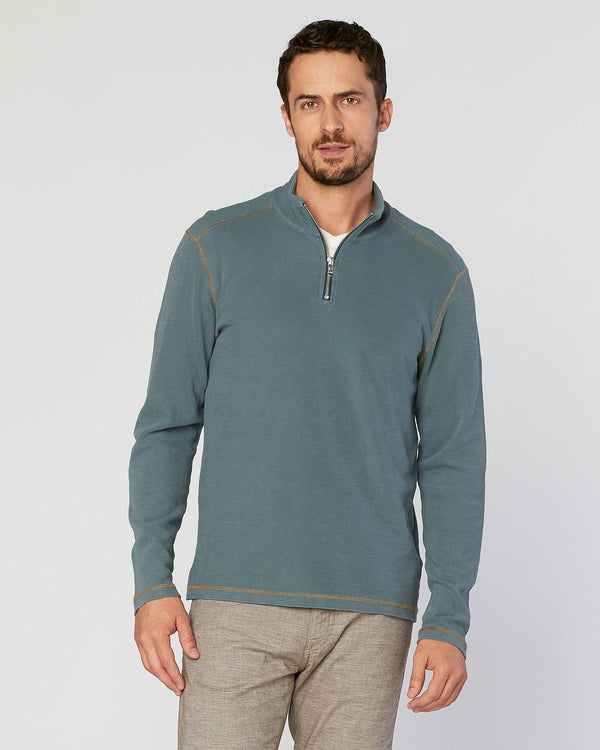 Shaper Supima Thermal 1/4 Zip Mock