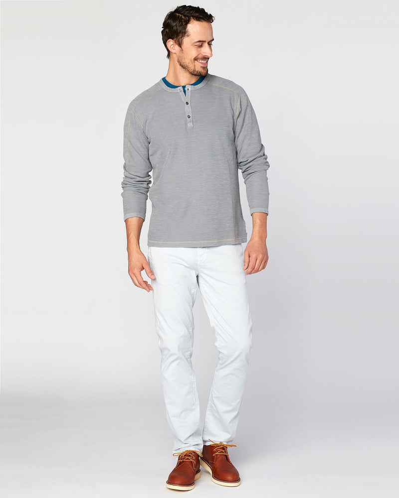 Riptide Flat Back Slub Thermal Henley