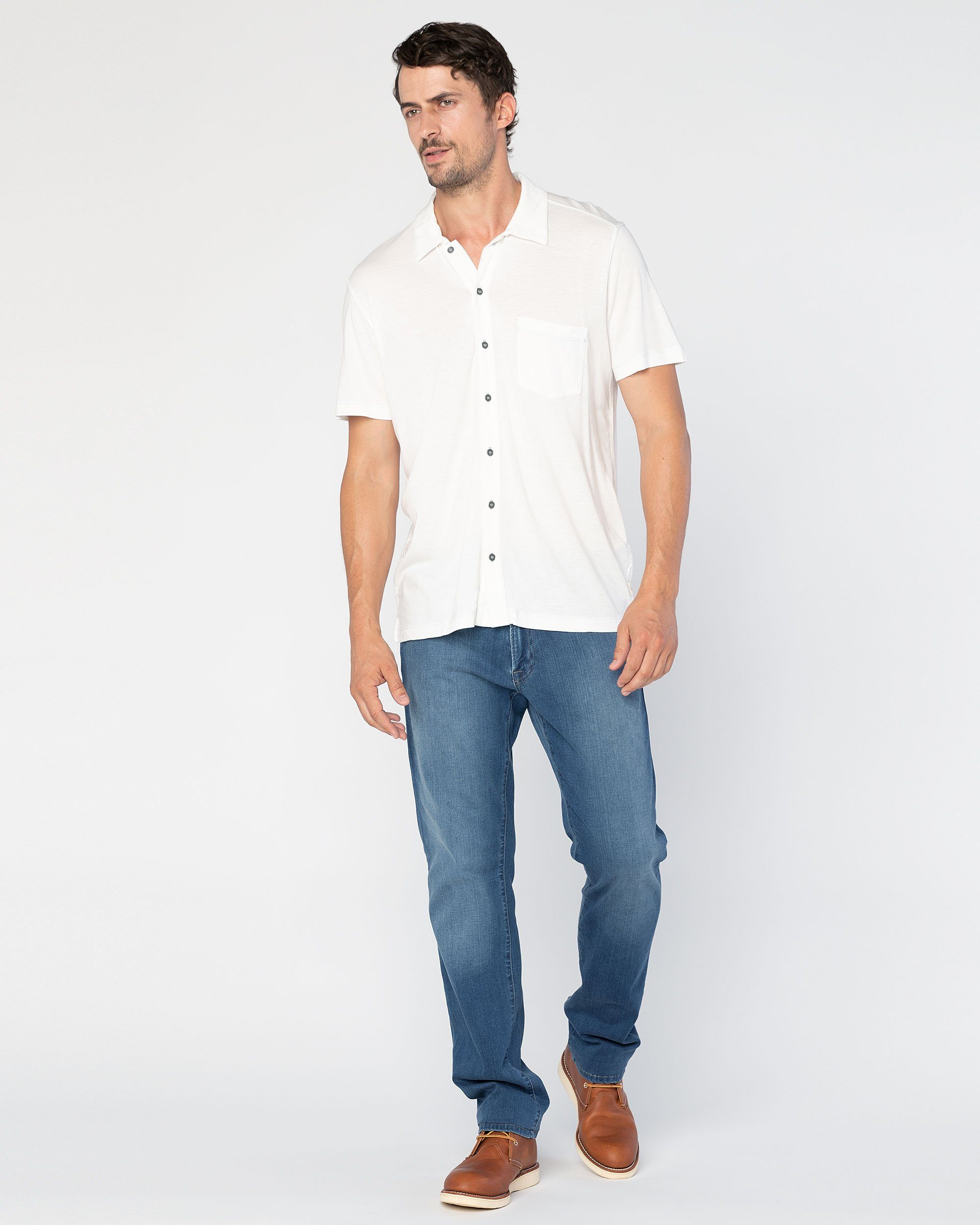 Fort Point Full-Button Polo