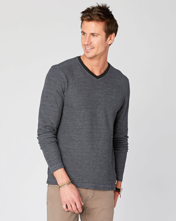 Traske Long Sleeve V Neck