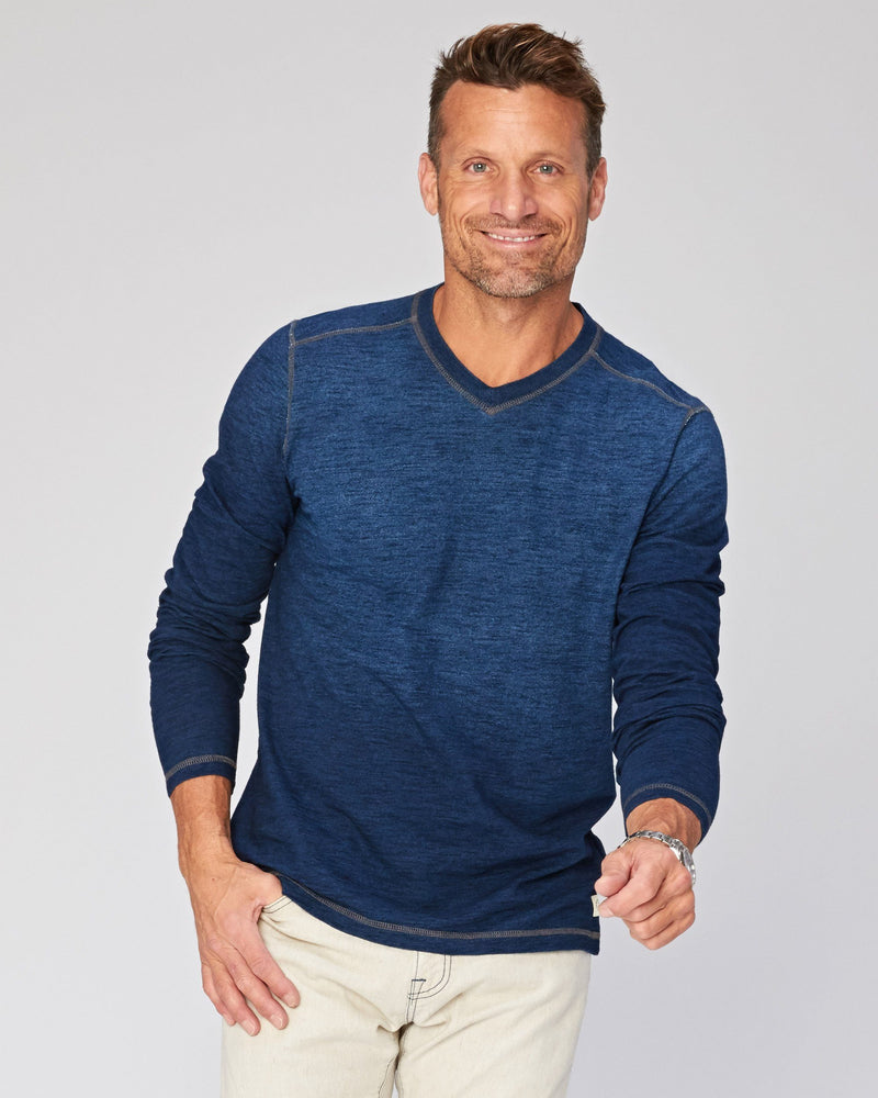 Ellis Indigo Jersey Long Sleeve Tee