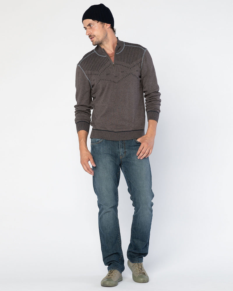 Statton Double-Knit Zip Mock