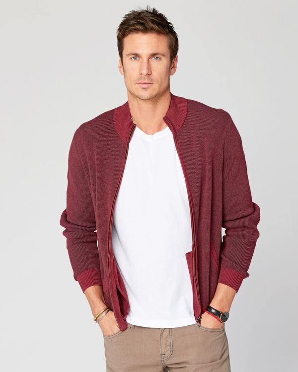 Beacon Full-Zip Mock Sweater