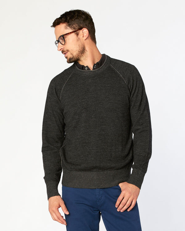 Hermosa Roll-Collar Crewneck