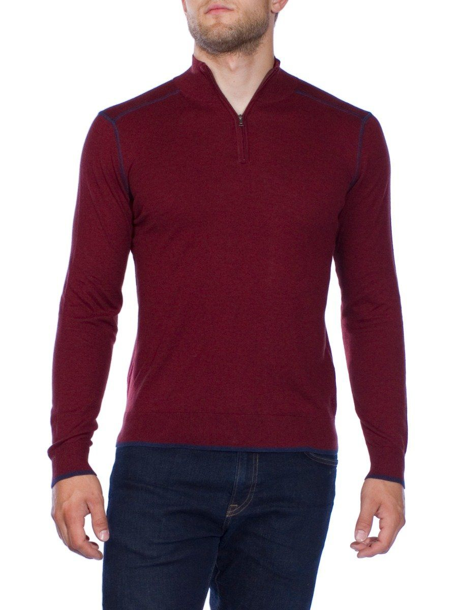 Laurence Mock Neck Zip Sweater