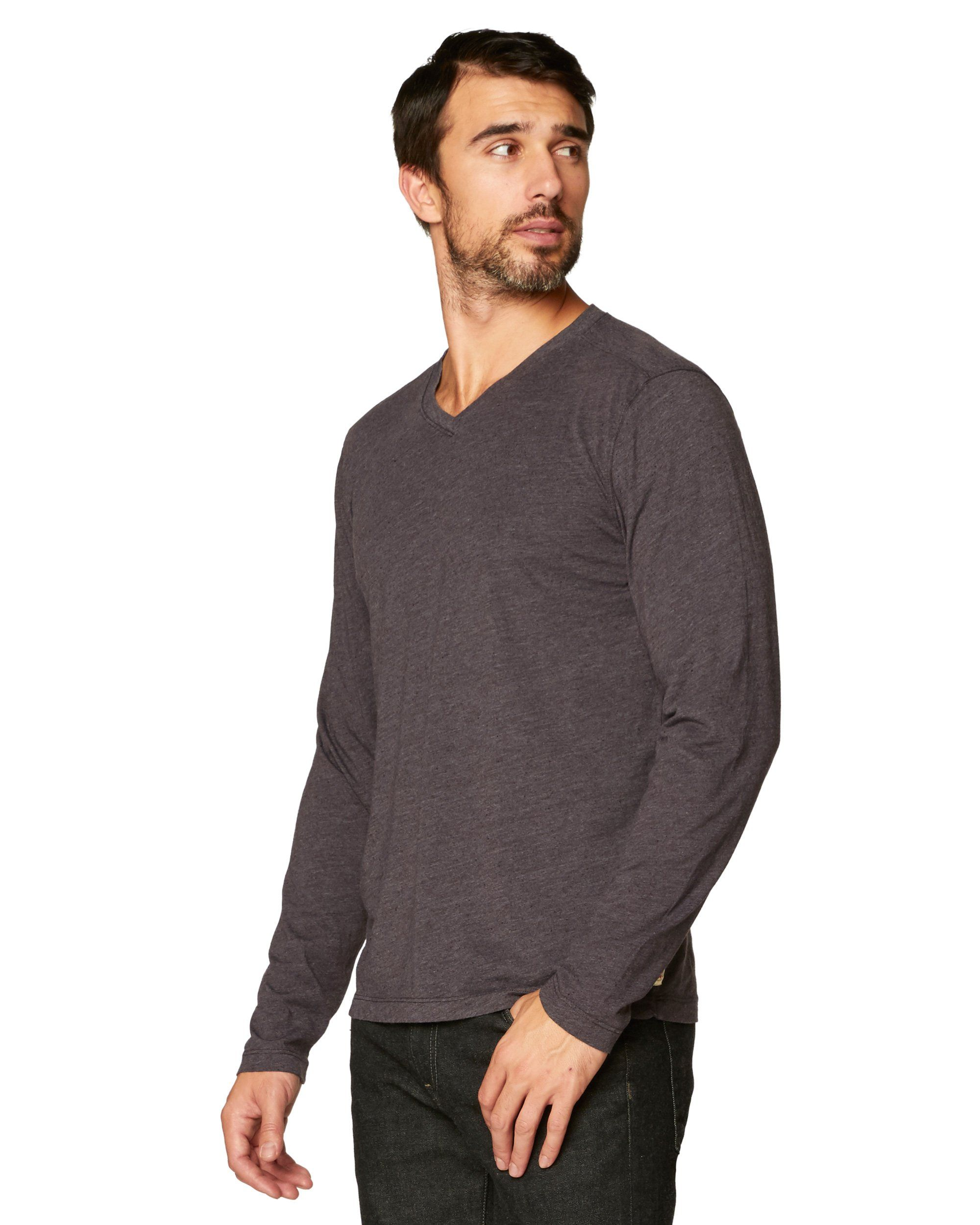 Feathering Long Sleeve Vee