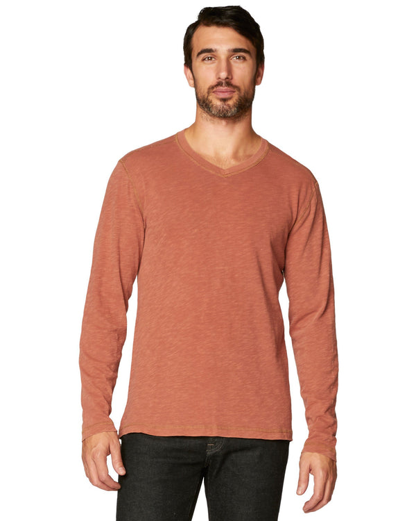 Kick Long Sleeve Slub Vee