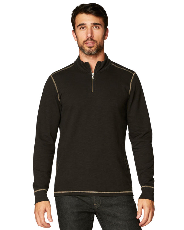 Barrel Slub Terry 1/4 Zip Mock