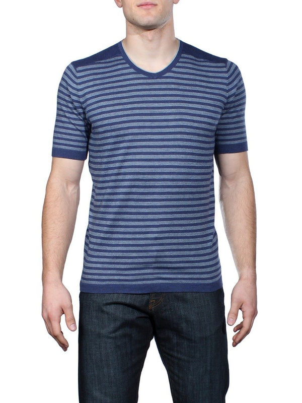 Mighty Mo Striped V-Neck Shirt