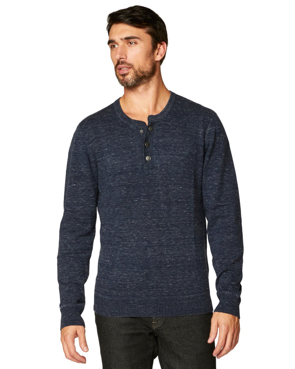 Hollow Long Sleeve Henley