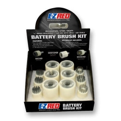 E-Z Red - 12 Piece Quick Disconnect Battery Brush Kit − South Jersey Tools