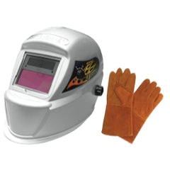 Astro Pneumatic - Deluxe Solar Auto-Darkening Welding Helmet with Free Pair of Gloves − South Jersey Tools