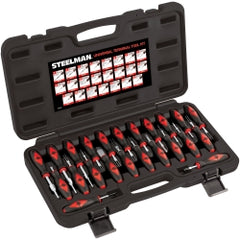 J S Products (steelman) - 23 Piece Universal Terminal Tool Kit - Euro Coverage − South Jersey Tools