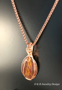 Noreena Jasper Pendant in Copper