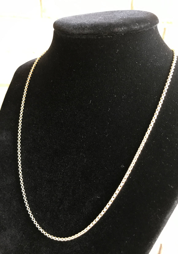 Gold Plated Chain Necklace 2mm